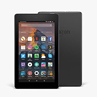 Fire 7 reacondicionado certificado, pantalla de 7'' (17,7 cm), 16 GB (Negro) - Incluye ofertas especiales