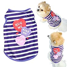 ANMIEN Pet T Shirt Clothes,ANMIEN Small Dog Cat Spring Summer Shirt Vest (XS, Blue)