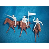 Marx Civil War Long Coat Cavalry in Gray, 5 Figures Plus 5 Horses, Offered by Classic Toy Soldiers, Inc