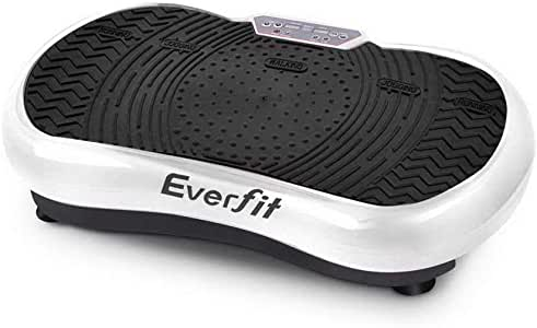 Vibration Machine Exercise Vibrating Plate Platform Body Shaper Fitness with 2 Resistance Band Everfit