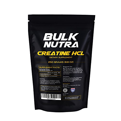 Universal Micronized Creatine Powder (Bulk Nutra Pure Creatine HCL Powder in Bulk Form – Increase Physical Performance – Your Alternative to Pills and Capsules – 250g (8.8 Oz) in a Bag)