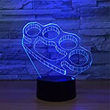 Creative USB Power Handcuffs 3D Touch Optical ILLusion Night Light Stunning Visual Effect 7 Colors Changing Table Desk Deco Lamp Bedroom Children Room Decorative Nightlight Toy Holiday Gifts
