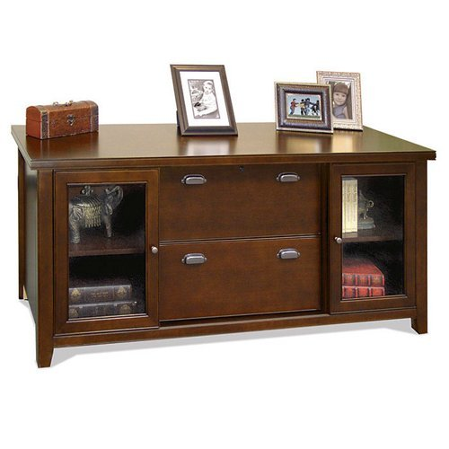 kathy ireland Home by Martin Tribeca Loft Cherry Storage Credenza - Fully Assembled Lateral File Console