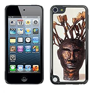 Shell-Star Arte & diseño plástico duro Fundas Cover Cubre Hard Case Cover para Apple iPod Touch 5 ( Tree Symbolic Art Portrait Statue Modern )