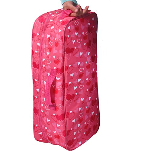 Doll Travel Case Suitcase Storage Bag fits all 18 Inch Dolls (Doll Suitcase)