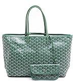 Agote Women Fashion Shipping Shoulder Tote Bag Set (GREEN.)