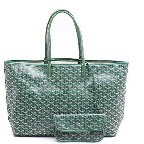 Agote Women Fashion Shipping Shoulder Tote Bag Set (A-GREEN), Large ()