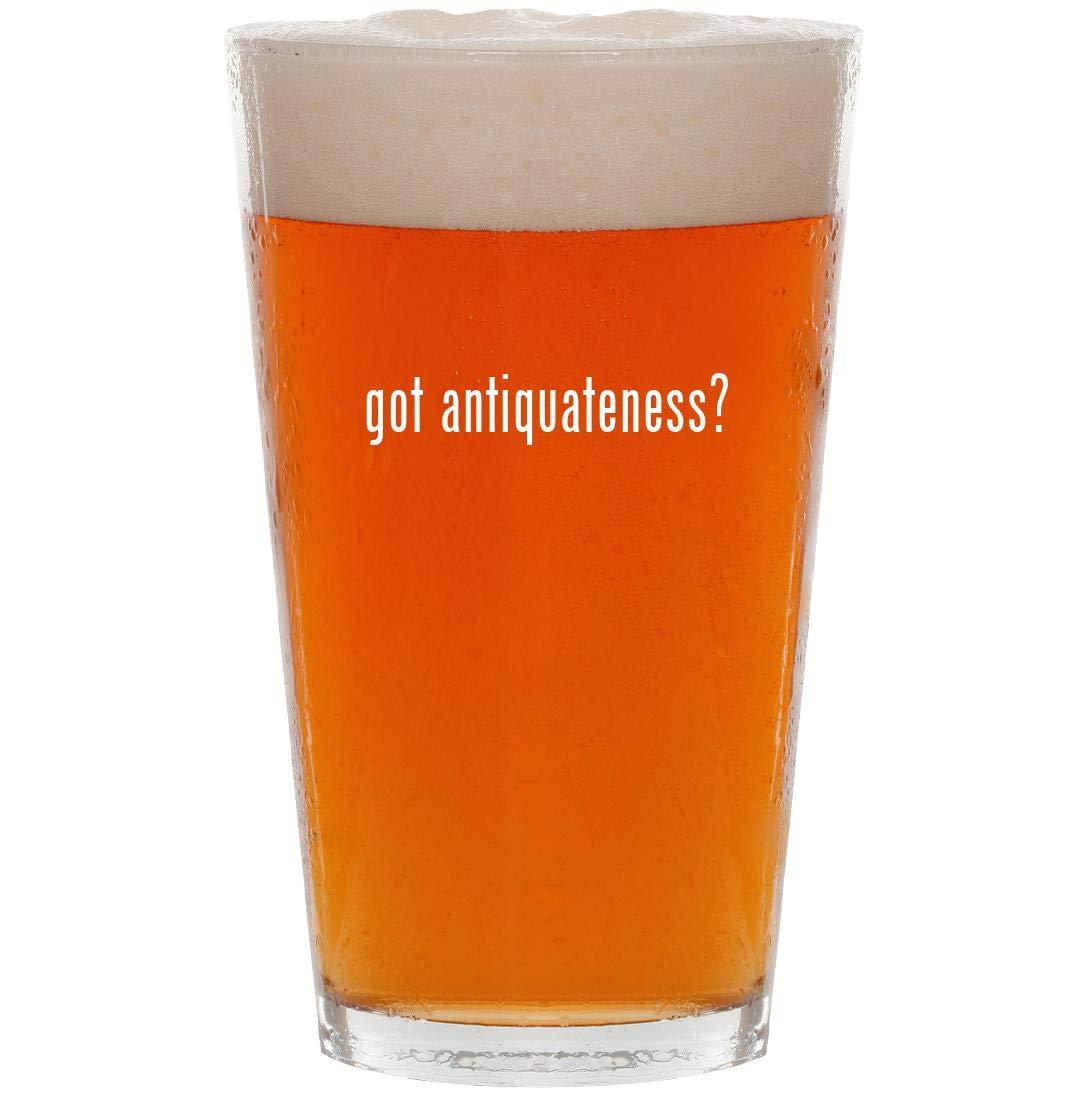 got antiquateness? - 16oz Pint Beer Glass