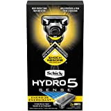 Schick Hydro Sense Energize Razors for Men with Shock Absorbent Technology, Includes 1 Razor Handle and 2 Razor Blades Refills