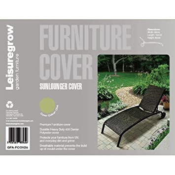 Tumbona LeisureGrow cubierta 80 cm x 192 cm - muebles de jardín ...