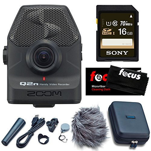 Zoom Q2n Handy Video Recorder with Q2N Accessory Pack & 16GB SD Card by Zoom