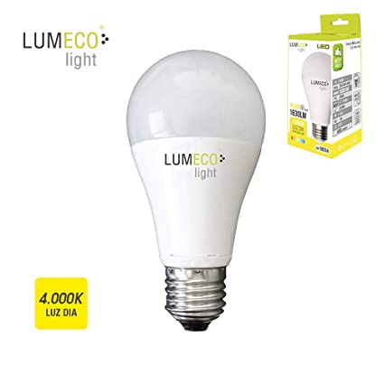 BOMBILLA STANDARD LED E27 16,5W 1630 LUMENS 4.000K LUZ DIA LUMECO