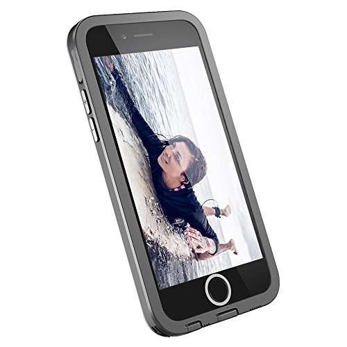 iPhone 6/6s Case, TETHYS Ultra Series iPhone 6/6S Waterproof Case (4.7 Inch) Protective IP68 Certified CoverThinness Profile w/Capability ShockPROOF,SandPROOF,SnowPROOF - (Usb Black Mark Sensor)