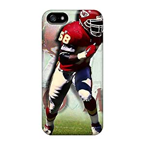 Shock-Absorbing Hard Phone Cases For Iphone 5/5s With Customized Trendy Kansas City Chiefs Series AlissaDubois
