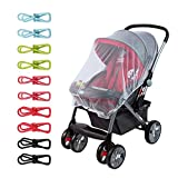 Aprince Mosquito Nets Baby Mosquito Net for Strollers Car Seats Drawstring Baby Tents Bassinets Crib Playpen and Infant Carriers with Colored Clips-Large Elastic Ultra Breathable Mesh Protection Again