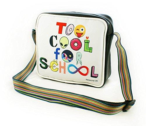 BOLSO PARA HOMBROS juvenil para mujeres y hombres Bolsa para la piscina y la escuela GRANDE A5! Too Cool for School