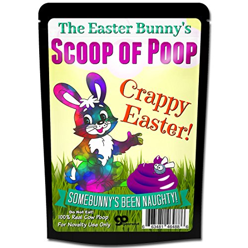Gears Out Easter Bunny Poop Scoop of Poop Crappy Easter Gag Funny Easter Basket for Adults Rabbit Poop Weird April Fool's Day Pranks