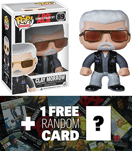 Clay Morrow: Funko POP! x Sons of Anarchy Vinyl Figure + 1 FREE Official Sons Of Anarchy Trading Card Bundle