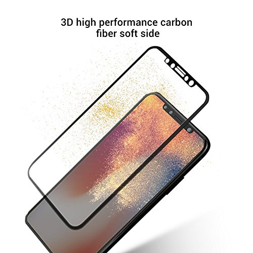 iPhone X 9H Hardness Screen Protector, Huafly Tempered 3D Glass Screen Protector for iPhone X with Anti-fingerprint High Light Penetration Hardness(2 Pack for Front and Back Screen) by Huafly (Image #6)