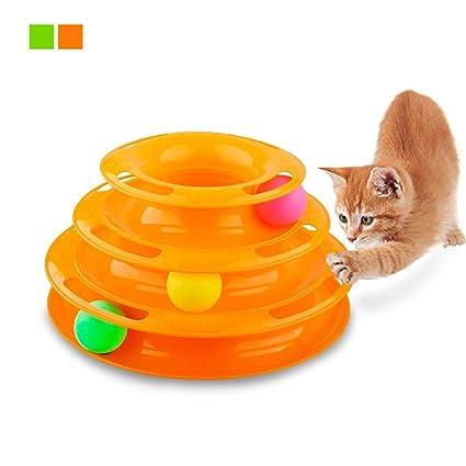Jamisonme Gimilife Mascota Tres palancas Torre de Pistas Juguetes interactivos para Gatos Pelotas para Mascotas Pelota