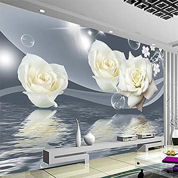 Wapel Frische Elegante Weiße Rose Blume Bubble Fototapete Wohnzimmer ...