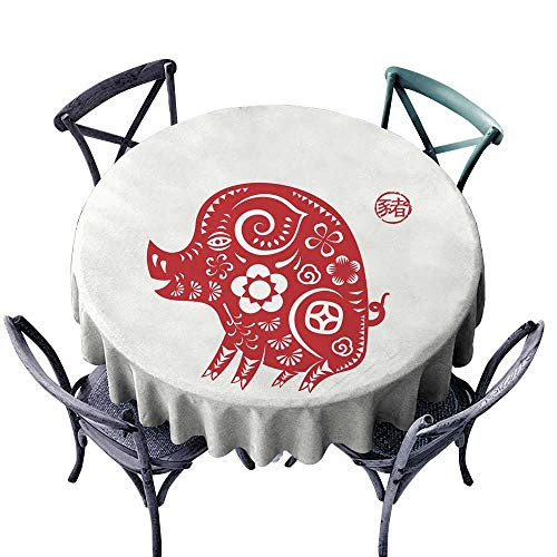 Oblong tablecloths Happy Chinese New Year 2019 year of the pig paper cut style Chinese characters mean pig Zodiac sign for greetings card flyers invitation posters brochure banners calendar D50