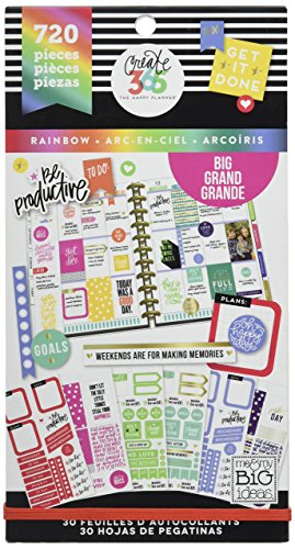 - me & my BIG ideas  PPSV-12-2048 Create 365 The Happy Planner Sticker Value Pack Planner, Big Color Way