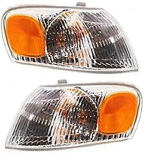 Discount Starter and Alternator TO2521150 TO2520150 Toyota Corolla Replacement Headlight Pair Plastic Lens With - Corner Headlights Corolla Toyota