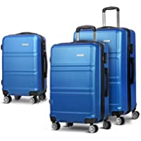 """Wanderlite 20"""" 24"""" 28"""" Luggage Suitcase Sets with Trolley Wheel and TSA-lock-Blue"""