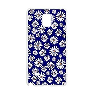 Canting_Good,Retro Floral Daisy, Custom Case for SamSung Galaxy Note4 (Laser Technology)