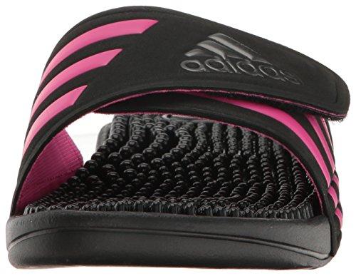 adidas Performance Damen Adissage W Slide Sandale Schwarz / Nacht Metallic / Shock Pink