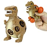 Winkey Toy for 1 2 3 4 5 6 Years Old Baby Kids Girls Boys, Dinosaur Model Grape Venting Balls Squeeze Pressure Stress Ball Stress Relief Toy (A)
