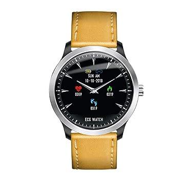 ... + electrocardiogramas PPG supervisión Tensiómetro de frecuencia cardíaca Prueba Fitness Tracker para Antiguos Hombres Reloj: Amazon.es: Electrónica