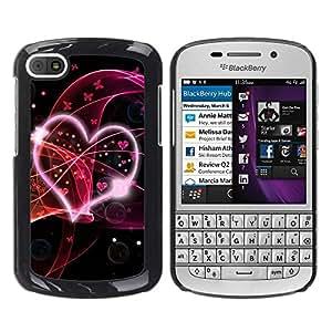 Smartphone Rígido Protección única Imagen Carcasa Funda Tapa Skin Case Para BlackBerry Q10 Love Pink / STRONG