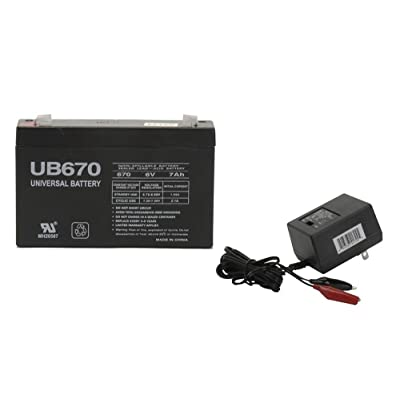 Universal Power Group 6V 7AH Replacement Battery for Empire NP76 with Charger : Sports & Outdoors