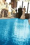 ShinyBeauty Turquoise-Aisle Runner-50FTX4FT,Glitter Sequin Wedding Aisles Floor Runner,Sparkle Carpet Runner (Red)