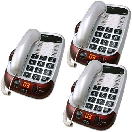 Clarity Alto Plus Digital Corded Phone with Amplified Big Button Speakerphone
