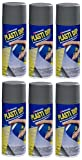 6-PACK Performix PLASTI DIP GUNMETAL GRAY 11OZ Spray CAN Rubber Handle Coating