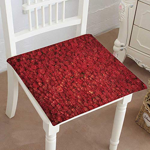 Mikihome Indoor/Outdoor All Weather Chair Pads red Rose Flower for Background Seat Cushions Garden Patio Home Chair Cushions 14