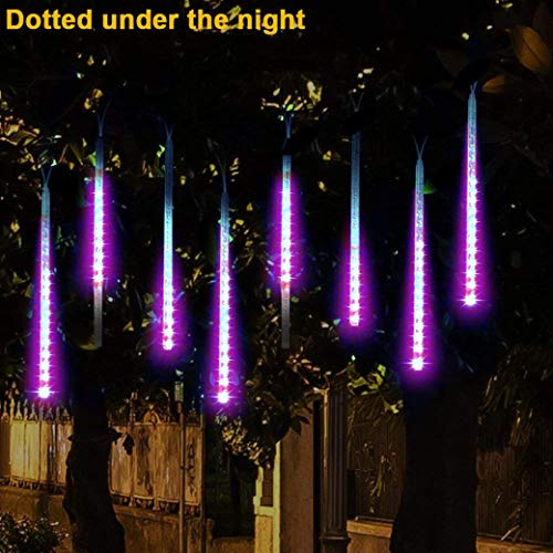 Voltage Shower Low (Yezijin Party LED Lights Meteor Shower Rain Snowfall Xmas Tree Garden Outdoor Purple)