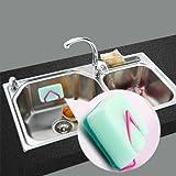 Alicenter(TM) Useful Kitchen Tool Suction Cup Cloth Rack Shelf Sink Sponge Holder Storage
