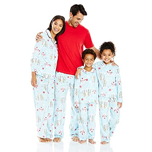 karen neuburger family minky fleece collared snowman holiday matching pj setaqua snowmanmom l