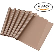 "Selizo 6 Pack Teflon Heat Press Transfer Sheet for Shirts Iron Pressing Sublimation Machine and Non Stick Craft Mat (16"" x 24"")"