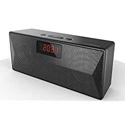 Monpos (Sport 1) Bluetooth Speaker with Built-in Mic, Dual-Driver, Alarm Clock, FM, MP3 Player (flash driver & Micro SD card) Portable Wireless Speaker with Superior Sound, Rich Bass. (SP1 Black)