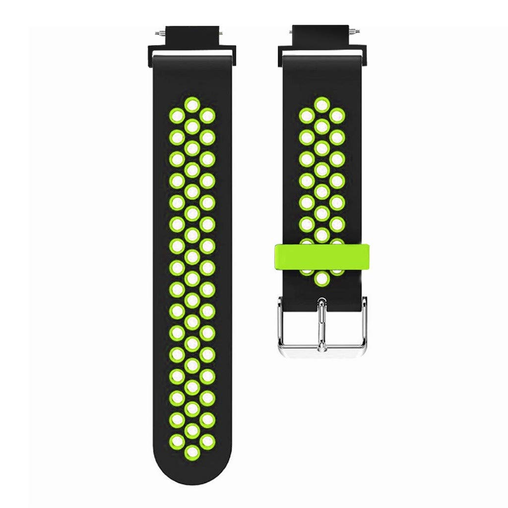Huami Amazfit Verge Replacement Sports Silicone Watch Band Wrist Strap 2019 (Green)