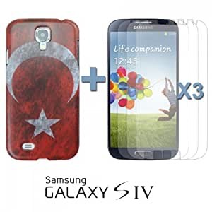 OnlineBestDigital - Vintage National Flag Hard Back Case for Samsung Galaxy S4 IV I9500 / I9505 - Turkey