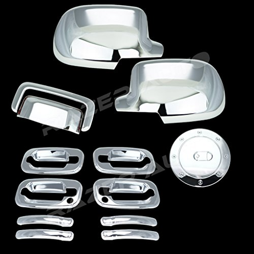 - Razer Auto Full Mirror Cover, 4 Door Handle with Passenger Keyhole, Tailgate Liftgate Handle, Gas Tank Cover for 00-06 Chevy Tahoe, Suburban, 00-06 GMC Yukon/Yukon XL