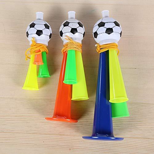 Stadium Horn - 1pc 3 Size Plastic Trumpet Toy Stadium To Cheer Audio Speakers Party Joy Football Atmosphere Horn - Trumpet Yellow White Noise Maker Bulk Red Speaker Gold