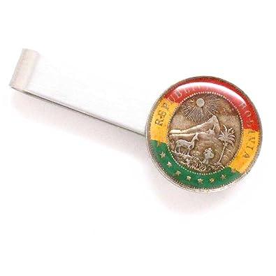 Amazon.com: The Traveling Penny Bolivia Coin Tie Bar Clip ...