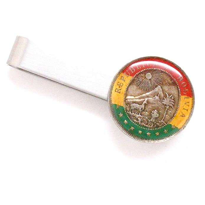 Amazon.com: The Traveling Penny Bolivia Coin Tie Bar Clip ...